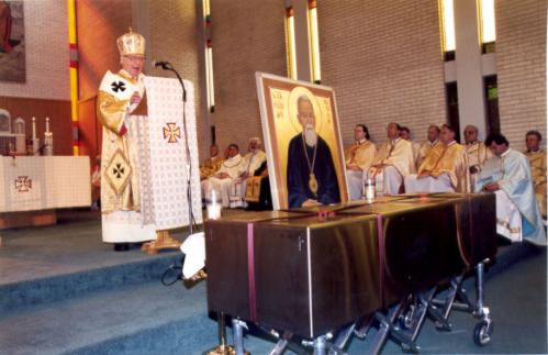 Transfer and Enshrinement of the relics of Bl. Vasyl, September 2002