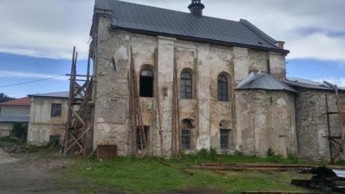 Old church burial in Kamianetz Podilski