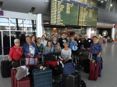 arriving at Lviv airport