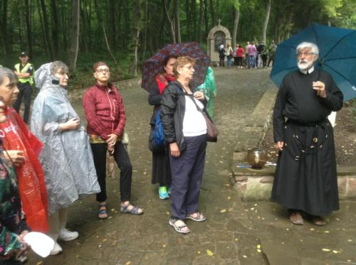 Walking the stations of the cross in Zarvanytsia