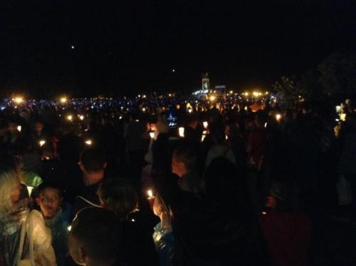 Candle Vigil in Zarvanytsia
