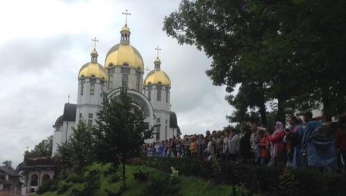 pilgrims participate in the annual pilgrimage at the Shrine of Our Lady of Zarvanytsia