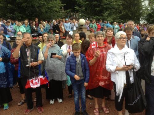 attending the liturgy in Zarvanytsia
