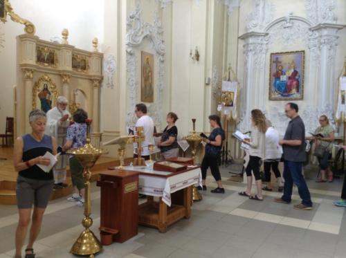 Having Divine Liturgy in Kamianetz Podilski