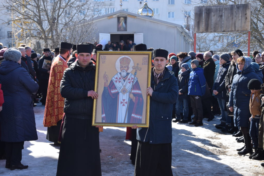 Way of the Cross Procession Through the Streets of Chortkiv, Ukraine, March 25, 2018