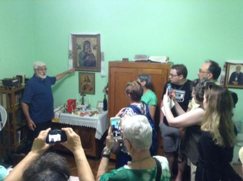 a tour in Blessed Vasyl's apartment