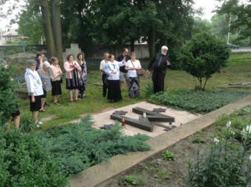Visiting the original burial site of Bl. Josaphata