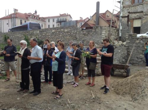Pilgrims have service for the thousands of men, women and children that were executed in the old church between 1920s and 1940s