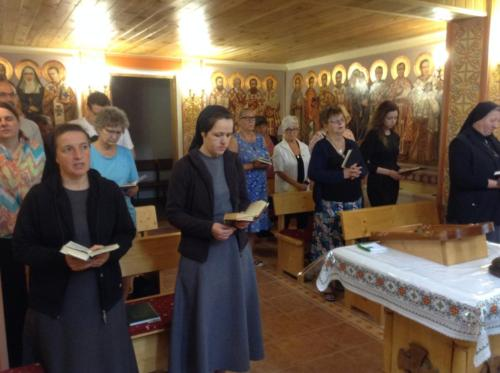Divine Liturgy in the Carpathian Mountains in Yaremche, with the Sisters of Mercy