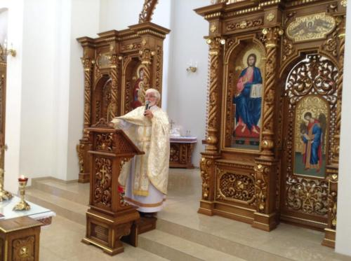 Divine Liturgy in Ivano-Frankivsk in the new church on the site of the former Redemptorist monastery where Bl. Vasyl was the director